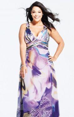 printed chiffon dress faviana Faviana 9268 Dress