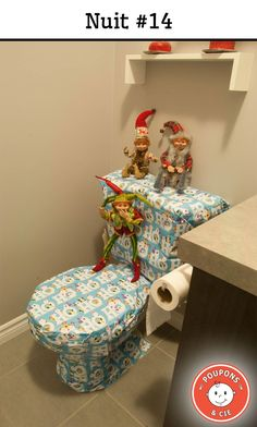 Make sure to wrap a toilet that you do not need to use for 24 hours. Elf on the Shelf Christmas Calendar, Christmas Holidays, Xmas, The Elf, Elf On The Shelf, What Is Elf, Reindeer Poop, Kobold, Naughty Elf