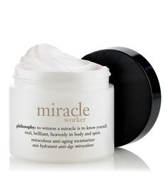 "miracle worker moisturizer | miraculous anti-aging moisturizer | philosophy moisturizers  This is like ""Botox"" in a cream! Love it!"