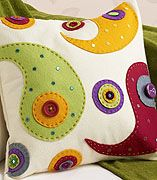 Felt Applique Cushion