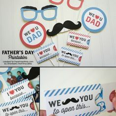 """We Love Dad"" Father's Day Printables on www.iheartnaptime.com #freeprintables  #fathersday"