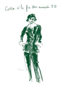 Karl Lagerfeld Sketches The Allure of Chanel Paul Morand