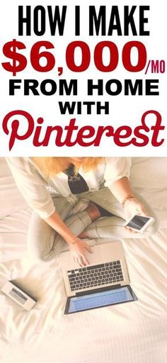 How she made Pinterest her full-time job is the best! I'm so happy I found this AWESOME post! How she was able to work from home and make $6k a year is incredible! Definitely pinning for later!