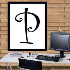 Letters P Print Letters P Digital Monogram Print Initial Print Letters Poster Print Digital Typography Art Print Digital Download 8X10 11x14 by sweetdownload on Etsy