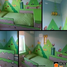 There are so many great home decorating ideas out there and this is one that's fantastic for your kids. Surprise your kids this year with your own unique Mario DIY kids bedroom ideas.