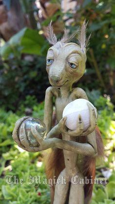 Faerie Sculpture, Manu the Great, OOAK, Magician, Magic, Fairytale, Faerie Magic, Mystical Creature, Trickster, Pagan Altar Decoration
