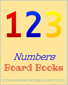Story Time Secrets: Numbers Board Books