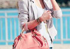 Love the blazer with the bag