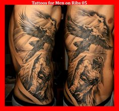 Tattoos for Men on Ribs 05