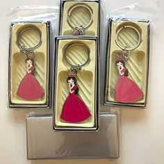 Brand New 12 Pc Quinceanera Keychain With Box Features 12 Pcs Brand New Item Come in Silver Gift Box Quinceanera Girl Key Chain Approx 4′ from ring to design Great For Give Out At Quinceanera Engraving Can be done on the backside Perfect Gift To Any Parties Small And Light 9 oz Quinceanera Party, Party Themes, Party Ideas, Party Favors, Personalized Items, Key Chain, Silver, Gifts, Parties