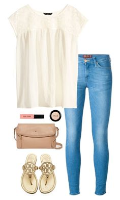 """""""kate & tory"""" by maddiehuh ❤ liked on Polyvore featuring 7 For All Mankind, H&M, Tory Burch, Bobbi Brown Cosmetics, Kate Spade and Stila"""
