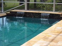spanish style water feature for pool google search