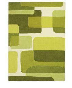 Arte Espina Pop Art green 70 x 140 cm - Retro | Vintage - Tapijt, moderne tapijten, designer tapijten, hoogpolig tapijten, kinderen tapijten