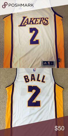 b5b265cc7c7 New Lakers Lonzo Ball Mens Medium Brand new with tag Stitched size MENS  MEDIUM Adidas Shirts Tank Tops