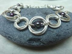 Handcrafted modern and elegant chainmaille jewelry for women. http://launchgrowjoy.com/linkouture/#