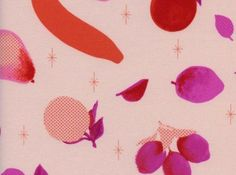 Cotton and Steel Melody Miller Fruit Dots Fruit Stand Pink