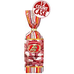 12-count case of 8.5 oz bags of Jelly Belly's Sour Gummi Santas. Chewy. sour. cherry-flavored candies. Perfect Christmas candy! Sour