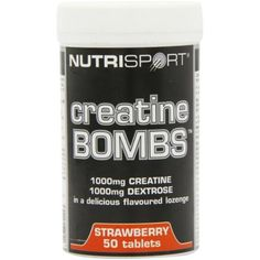 Nutrisport Creatine Bombs Strawberry 50 Tablets ** You can get more details by clicking on the image. (This is an affiliate link) #VitaminsDietarySupplements