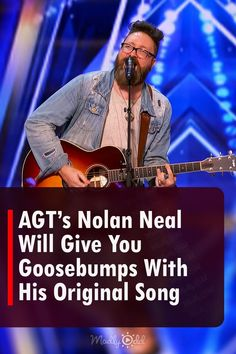 """Nolan Neal auditioned for America's Got Talent with an original song """"Lost"""" inspired by his own life, and the power that he projected is nothing short of legendary. #NolanNeal #AmericasGotTalent #AGT"""