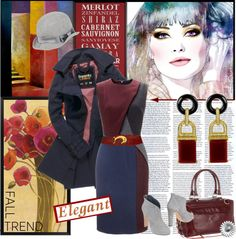 """Burgundy: The New Black"" by sophisty ❤ liked on Polyvore"