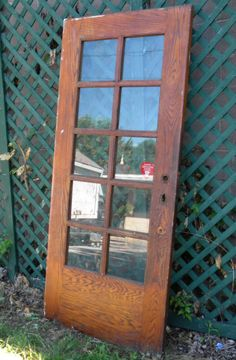Replace some interior doors with antique french doors :)