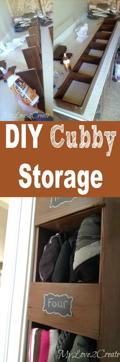 Create a storage space in even a small closet with this easy to make DIY Cubby Storage System