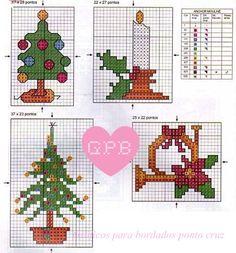 ! Graphics voor borduurwerk: Kerstmis