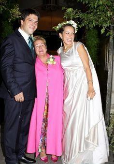 Bernardo avec sa mére et son épouse Eva