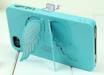 Light Blue Angel Wing Cell Phone Case For iPhone 4 & 4s