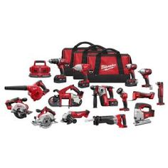 Milwaukee M18 18-Volt Lithium-Ion Cordless Combo Kit (15-Tool) 2695-15 at The Home Depot - Mobile