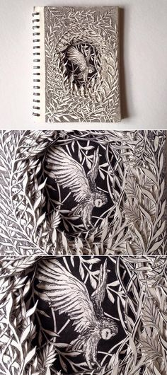 Seattle based illustrator Isobelle Ouzman breathes new life into discarded books by turning them into scul. Paper Book, Paper Art, Cut Paper, Handmade Books, Handmade Notebook, Altered Book Art, Illustration Art, 3d Illustrations, Book Sculpture