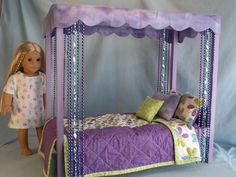 american girl doll canopy bed plans