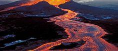 Kilauea volcano in Hawaii sprouts two 'vigorous' lava flows Hawaii Volcanoes National Park, Volcano National Park, National Parks, Lava Flow, Birds Eye View, New Perspective, Big Island, Backdrops, World