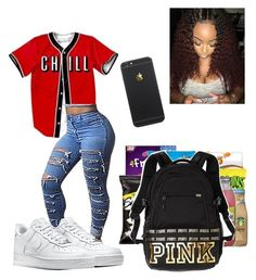 """""""School"""" by guccixmya on Polyvore featuring NIKE and Victoria's Secret PINK"""