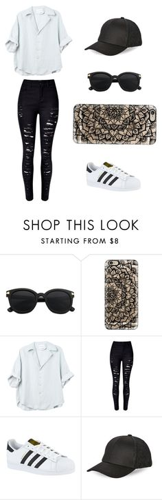 """Sin título #186"" by karenrodriguez-iv on Polyvore featuring moda, Casetify, WithChic, adidas y BCBGeneration"