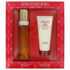 DIAMONDS & RUBIES Perfume by Elizabeth Taylor Gift Set EDT Spray + Body Lotion  #ElizabethTaylor