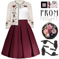 The Perfect Prom Night (formal) by beebeely-look on Polyvore featuring polyvore, fashion, style, River Island, Bobbi Brown Cosmetics, Gucci, clothing, Prom, floral and formal