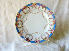 Antique Dresden Flowers Pair of Plates Hand by AntiquesduJour, $99.00