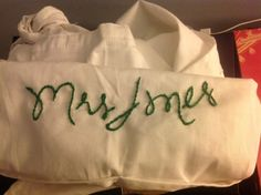 Embroidered apron for a hen party