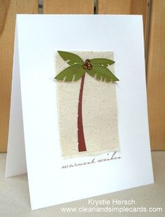 Warmest Wishes Palm Tree Memory Box Swaying Palm die (98330) From Clean and Simple Cards blog