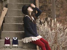 Lace-Hem Knit Top - Tokyo Fashion | YESSTYLE Canada