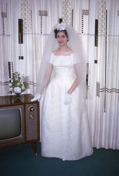"""1960's everything...my mom made curtains like those and always referred to them as """"poolroom"""" curtains...the console tv, the headpiece...sigh!!"""