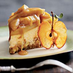 Caramel Apple-Brownie Cheesecake - Our Favorite Fall Desserts - Southernliving. Recipe: Caramel Apple-Brownie Cheesecake This delicious recipe combines our favorite fall flavors into one chocolaty, velvety dessert. Apple Dessert Recipes, Fall Desserts, Apple Recipes, Just Desserts, Sweet Recipes, Desserts Caramel, Unique Desserts, Christmas Desserts, Fruit Dessert
