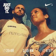 Estou há 13 dias praticando atividade física! E dessa vez não vim sozinho. Obrigado pela cia @tamydoblog! Quem anima correr com a gente um dia? Vamos marcar!