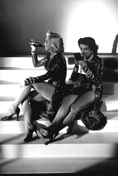 Gentlemen Prefer Blondes - Marylin is so funny and gorgeous - as is Jane. Love this off-camera moment.