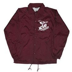 XCVB - Birdy Coach Jacket - Maroon || #streetwear #tees  #fashion #menswear #summer #independent #clothing #designer #hiphop #skateboarding