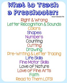 What To Teach a Preschooler : Homeschool Preschool The Effective Pictures We Offer You About Preschool lesson plans A quality picture can tell you many things. You can find the most beautiful pictures Preschool Lesson Plans, Preschool At Home, Preschool Kindergarten, Toddler Preschool, Preschool Assessment, Preschool Teachers, Preschool Checklist, Pre K Lesson Plans, Preschool Readiness