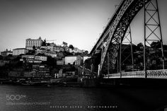 Porto's riverside in black and white by TicianoAlves