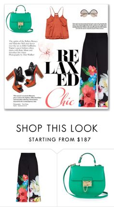 """Flared pants"" by alexandra-barbu-1 ❤ liked on Polyvore featuring Ted Baker, Dolce&Gabbana, Brian Reyes, Meghan Los Angeles, Marc by Marc Jacobs and Industrie"