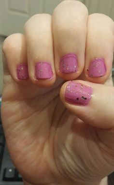 Mary Kay nail color Brilliant Violet and Maybelline Color Show Bronze Beam.